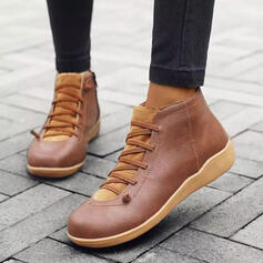 De mujer Tela Tacón plano Planos con Cordones zapatos
