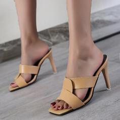 De mujer PU Tacón stilettos Salón con Agujereado zapatos