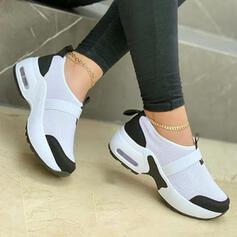 Women's Flying Weave Flat Heel Flats Sneakers With Splice Color shoes