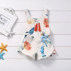 Baby Cartoon Print Cotton Jumpsuit