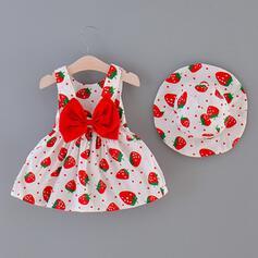 2 piezas Bebés niñas Bowknot Lunares Impresión Algodón Configura El Tamaño