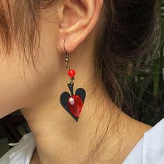 Corazón Halloween Aleación Diamantes de imitación Pendientes 2 piezas