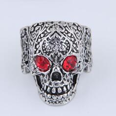 Cráneo Halloween Aleación con Diamantes de imitación Anillos