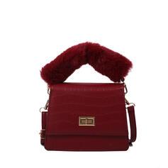 Refined/Lichee Pattern/Puffy Crossbody Bags