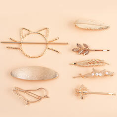 Leaves Shaped Birds Luck Alloy With Leaf Women's Ladies' Girl's Hair Accessories 8 PCS