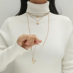 Simple Layered Alloy With Starfish Women's Necklaces