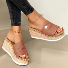 Women's Suede Wedge Heel Sandals Wedges Peep Toe Slippers With Others shoes
