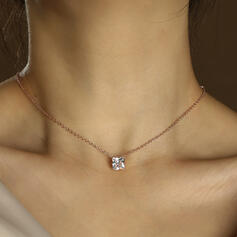 Shining Simple Alloy Rhinestones Women's Ladies' Necklaces