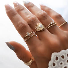 Charming Delicate Alloy With Sun Rings 7 PCS