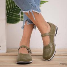 De mujer Cuero Tacón plano Planos Mocasines con Hebilla zapatos