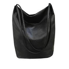Women's Casual High Capacity Travel PU Shoulder Bags