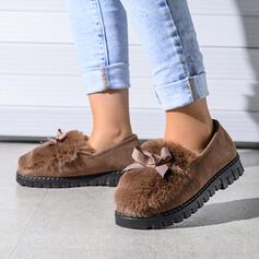 De mujer Cuero Tacón plano Planos con Bowknot Piel Sintética zapatos