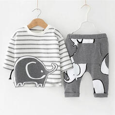 2-pieces Baby Boy Cartoon Animal Cotton Set