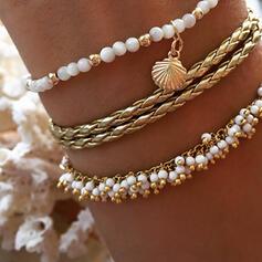Encanto Caliente Aleación La perla de faux con Perlas de imitación Sistemas de la joyería Pulseras (Juego de 3)