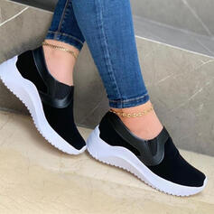 Women's Cloth Others Platform Slip On With Patchwork shoes