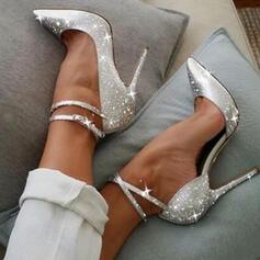 Women's Sparkling Glitter Stiletto Heel Pumps Closed Toe Heels Pointed Toe With Sparkling Glitter shoes
