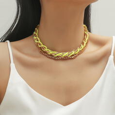 Link & Chain Layered Iron Women's Necklaces 2 PCS
