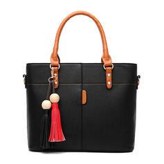 Elegante/De moda/Asesino/Patrón litchi/Color sólido/Bolso de mamá Mochila/Bolsas de mano/Bolsos cruzados/Bolso de Hombro