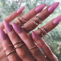 Classic Simple Alloy Women's Ladies' Rings (Set of 12)
