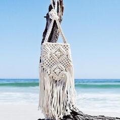 Único/Estilo personalizado/Color sólido/Estilo bohemio/Trenzado Bolsos cruzados/Bolso de Hombro/Bolsas de playa/Bolsas de Hobo