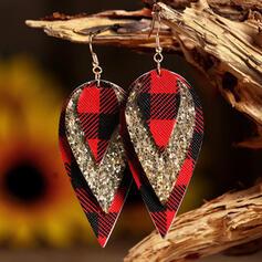 Pretty Layered Christmas PU Women's Earrings 2 PCS