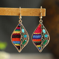 Colourful Boho Cloth Alloy Rhinestones Women's Earrings