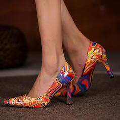 Women's PU Stiletto Heel Pumps Heels With Print shoes