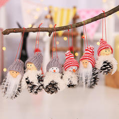 Christmas Table Gnome Merry Christmas Snowman Hanging Cloth Tree Hanging Ornaments Christmas Ornements (Set of 3)