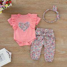 3 piezas Bebés niñas Corazón Volantes Impresión Algodón Configura El Tamaño