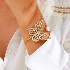 Luminoso Simple De la mariposa Aleación con Diamantes de imitación Pulseras