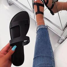 Women's Fabric Flat Heel Sandals Slippers shoes