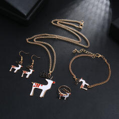 Lovely Christmas Reindeer Christmas Alloy Women's Ladies' Jewelry Sets 5 PCS
