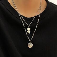 Fashionable Vintage Alloy Women's Ladies' Men's Unisex Necklaces 2 PCS