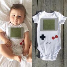 Baby Pom pom decor Print One-piece