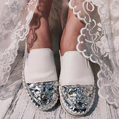 Women's PU Flat Heel Flats Round Toe With Sequin shoes