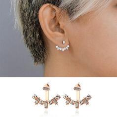Stylish Delicate Romantic Alloy With Rhinestones Women's Ladies' Girl's Earrings