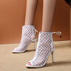 De mujer PU Tacón stilettos Salón con Cordón zapatos