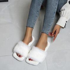 De mujer Terciopelo Tacón plano Encaje con Piel zapatos