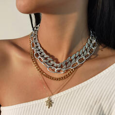 Fashionable Vintage Alloy With Star Women's Ladies' Necklaces 4 PCS
