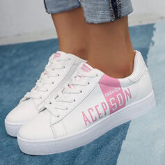 Women's Canvas Flat Heel Flats Round Toe Espadrille Sneakers With Lace-up Print shoes