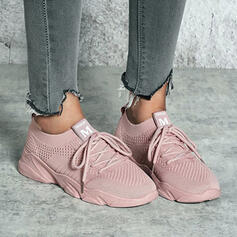 Women's Cloth Mesh Flat Heel Flats Sneakers With Solid Color shoes
