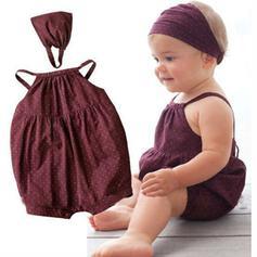 2 piezas Bebés niñas Lunares Algodón Configura El Tamaño