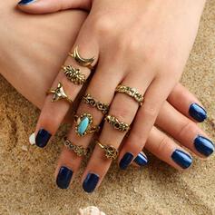 Vintage Elegant Alloy Women's Ladies' Rings 9 PCS