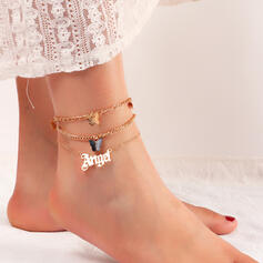 Butterfly Layered Angel Alloy With Butterfly Women's Ladies' Anklets 3 PCS