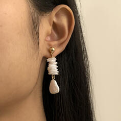 Unique Chic Stylish Alloy With Resin Shell Women's Ladies' Girl's Earrings