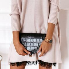 Personalized Style/Shell Shaped/Crocodile Embossed Crossbody Bags