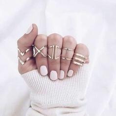 Fashionable Simple Alloy Women's Ladies' Rings 5 PCS