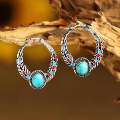 Beautiful Boho Alloy Turquoise Women's Earrings 2 PCS