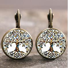 Unique Round Alloy Women's Earrings 2 PCS