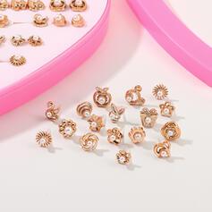 Caliente Elegante Diamantes de imitación Plástico con Perlas de imitación Estrella Sistemas de la joyería (Juego de 36)
